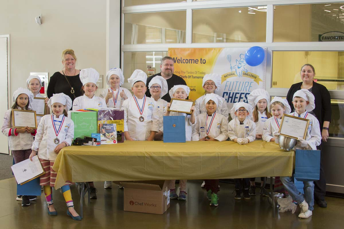 Student chefs in 2nd-5th grade submitted and cooked their own recipes to be judged and enjoyed at the Future Chefs of America event at Woodland High School. Photo courtesy of Woodland School District