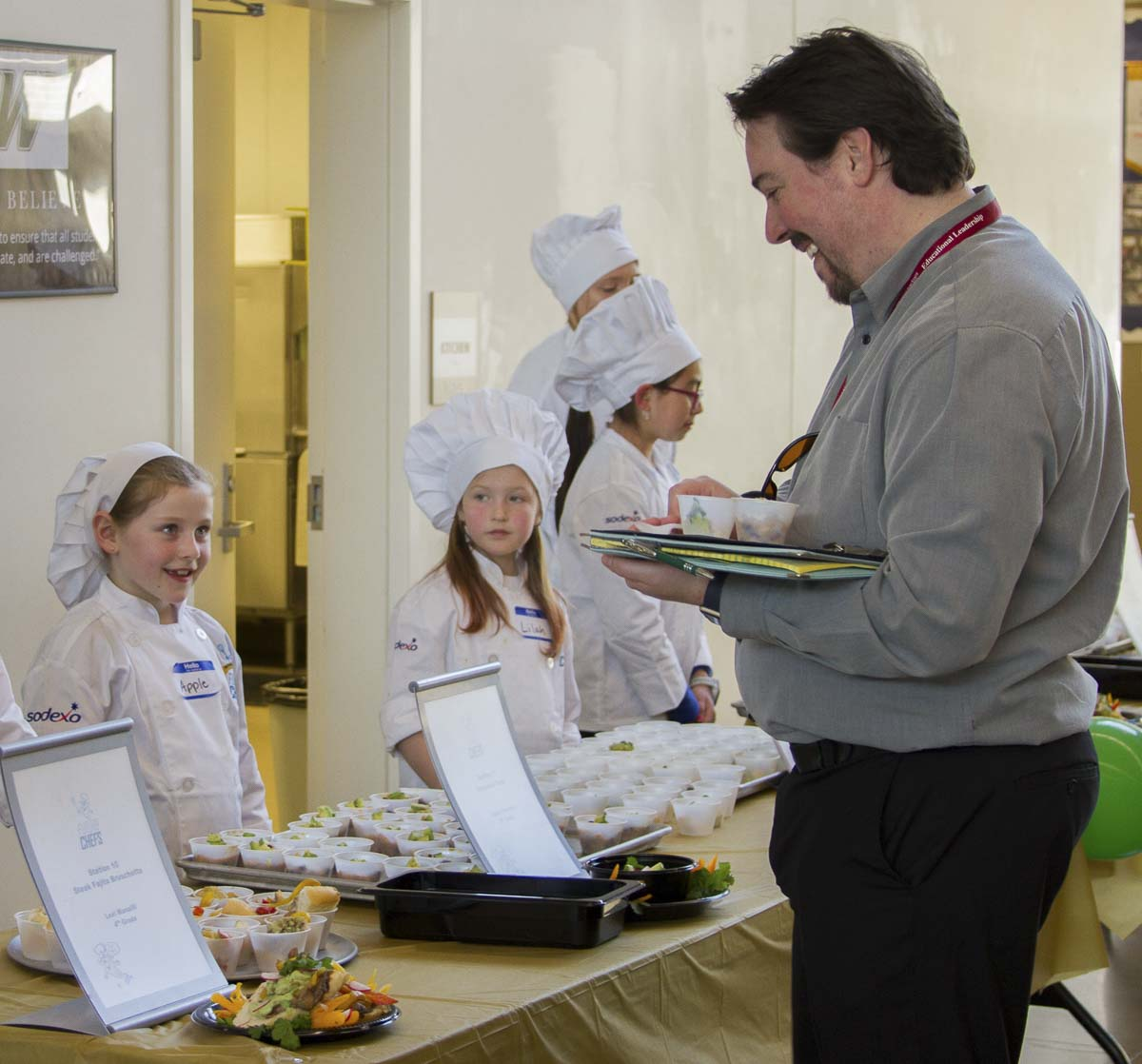 A panel of judges tasted each dish, choosing winners for five categories as well as a grand prize winner. Photo courtesy of Woodland School District