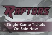 Raptors single game tickets on sale