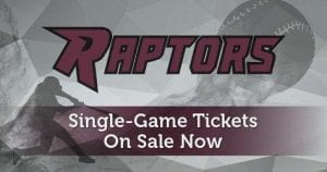 Ridgefield Raptors single game tickets are on sale now at https://ridgefieldraptors.com/calendar/tickets/ .