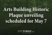 Arts Building Historic Plaque unveiling scheduled for May 7