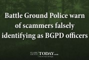 Battle Ground Police warn of scammers falsely identifying as BGPD officers