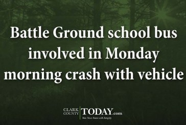 Battle Ground school bus involved in Monday morning crash with vehicle