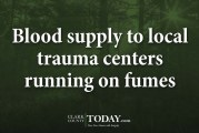 Blood supply to local trauma centers running on fumes