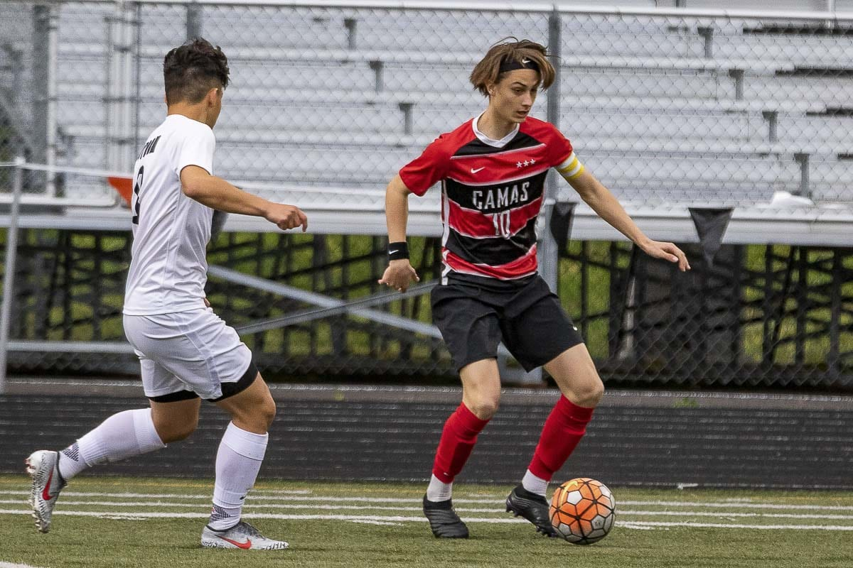 Zander Samodurov, a junior, said last year taught the Camas Papermakers a valuable lesson. One goal can make a huge difference, which means one moment's lack of focus can change everything. Photo by Mike Schultz