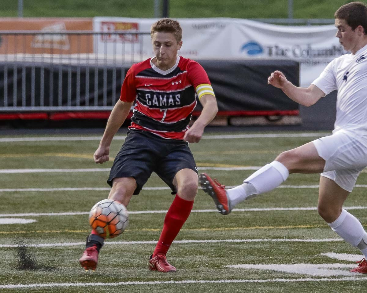 Senior Luke Davidson said team chemistry this season is key and the Camas Papermakers are progressing toward the goal of returning to the playoffs after a year's absence. Photo by Mike Schultz