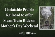 Chelatchie Prairie Railroad to offer SteamTrain Ride on Mother's Day Weekend