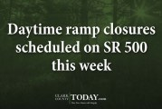 Daytime ramp closures scheduled on SR 500 this week