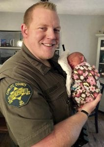 Deputy Justin DeRosier leaves behind a wife and 5-month old daughter, Lily. Photo courtesy Katie DeRosier