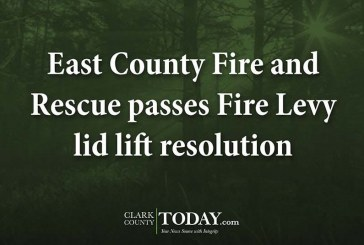 East County Fire and Rescue passes Fire Levy lid lift resolution