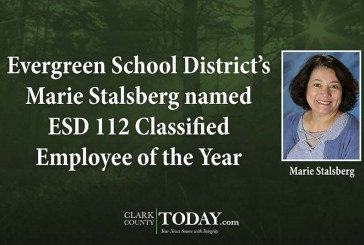 Evergreen School District's Marie Stalsberg named ESD 112 Classified Employee of the Year