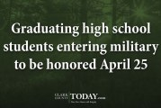 Graduating high school students entering military to be honored April 25