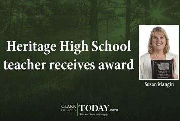 Heritage High School teacher receives award