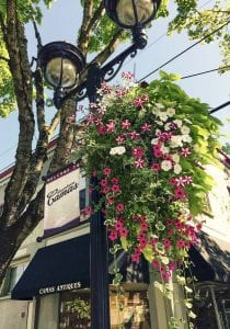 Adopting a flower basket is a way for people to contribute directly to the vibrancy of their community. Baskets can be adopted for $45. Photo courtesy of Downtown Camas Association