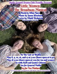 """Battle Ground High School Drama is set to perform the timeless classic """"Little Women"""" beginning May 8."""