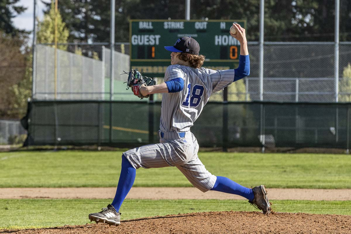 Trevor Milton improved to 5-0 this season with a 0.86 ERA for the Mountain View Thunder. Photo by Mike Schultz