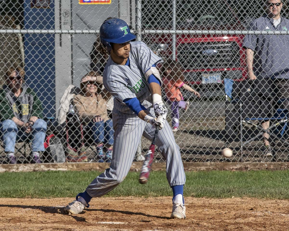 Mountain View's Isaiah Parker is one of several Thunder bats that can get the job done this season. Photo by Mike Schultz