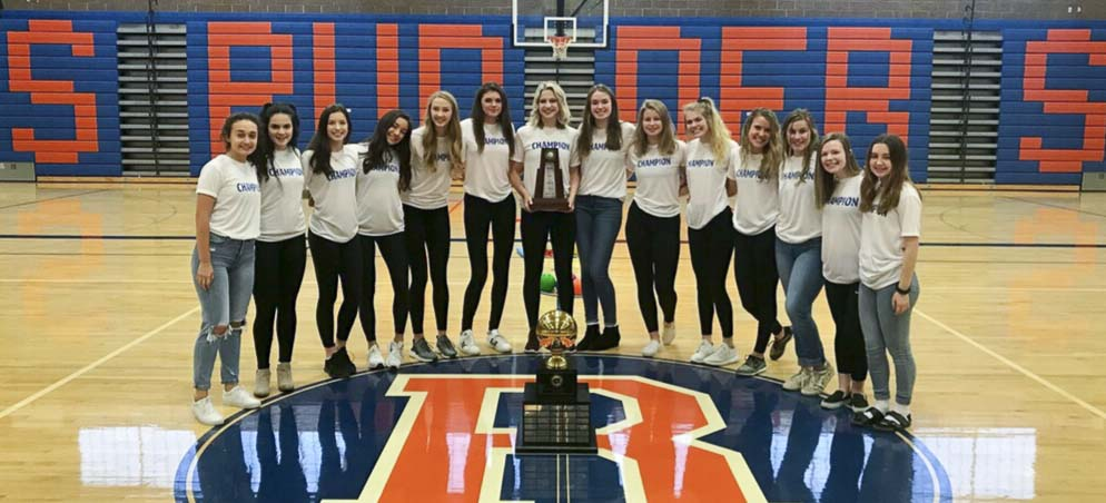The Ridgefield Spudders won the 2018 Class 2A state volleyball crown in November. Ridgefield is one of five different schools from the 2A Greater St. Helens League to have won a state title in a traditional team sport in the past year. Photo courtesy of Ridgefield athletics