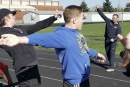 Experts give advice at Heritage HS during throwers clinic
