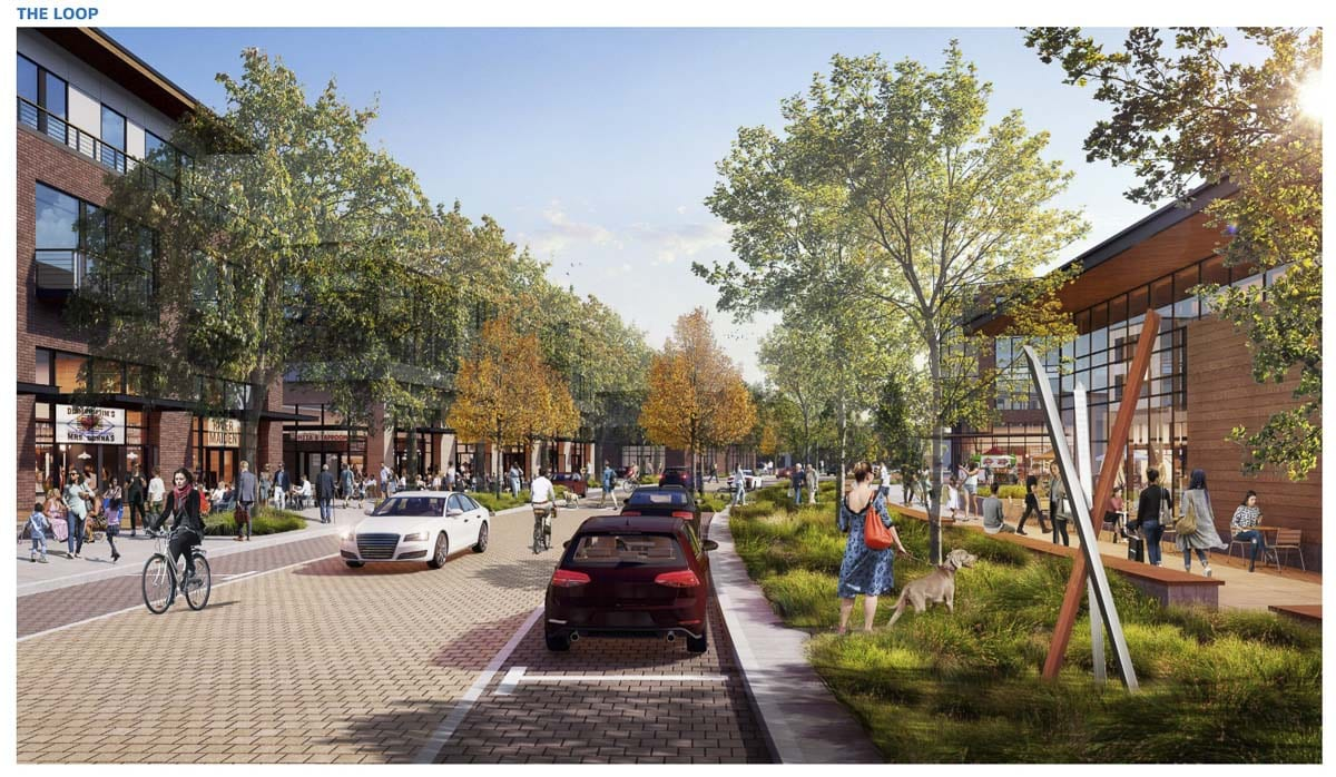This rendering shows what The Loop inside The Heights area redevelopment could look like. Image courtesy city of Vancouver