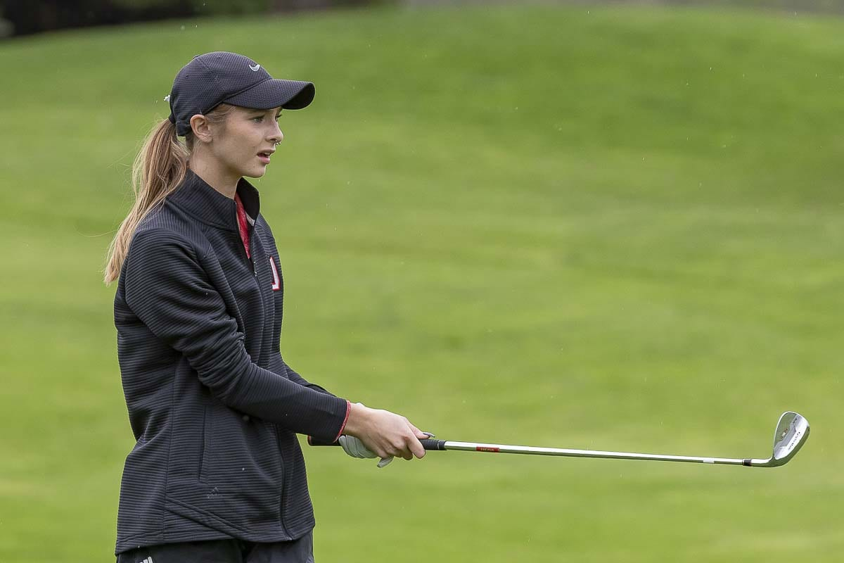 Union senior Cassidy Pettitt said she likes being an ambassador of the Titan Cup. This is Union's premier golf event every year, and she wants to make sure all other teams feel welcome. Photo by Mike Schultz