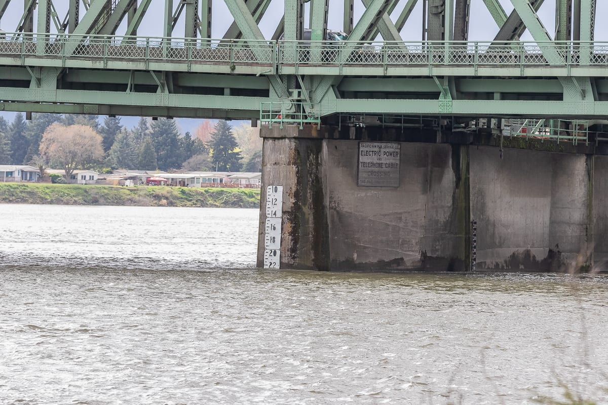 A high water market on the Interstate Bridge along the Columbia River. Photo by Mike Schultz