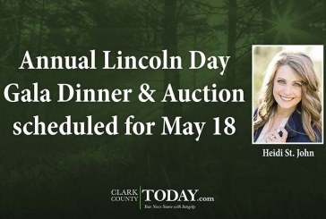 Annual Lincoln Day Gala Dinner & Auction scheduled for May 18