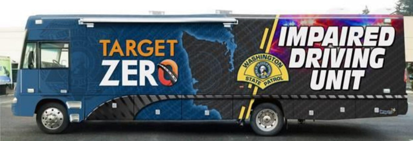 The Washington State Patrol's upgraded Mobile Impaired Driving Unit (MIDU) will be out this weekend in Bellevue, and next weekend in Vancouver. Photo courtesy Washington State Patrol