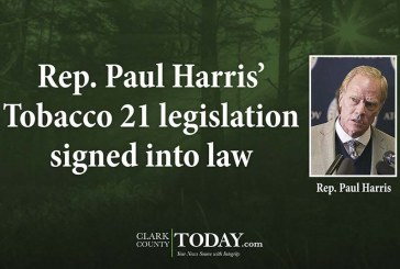 Rep. Paul Harris' Tobacco 21 legislation signed into law