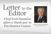 Letter: Chief Scott Sorenson offers a 'thank you' to Fire District 3 voters