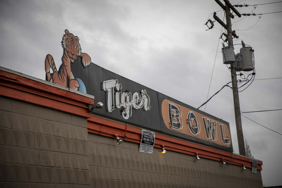 Tiger Bowl bowling alley and restaurant in Battle Ground opened its doors in 1958, and recently underwent a remodel and the installation of new lanes. Photo by Jacob Granneman