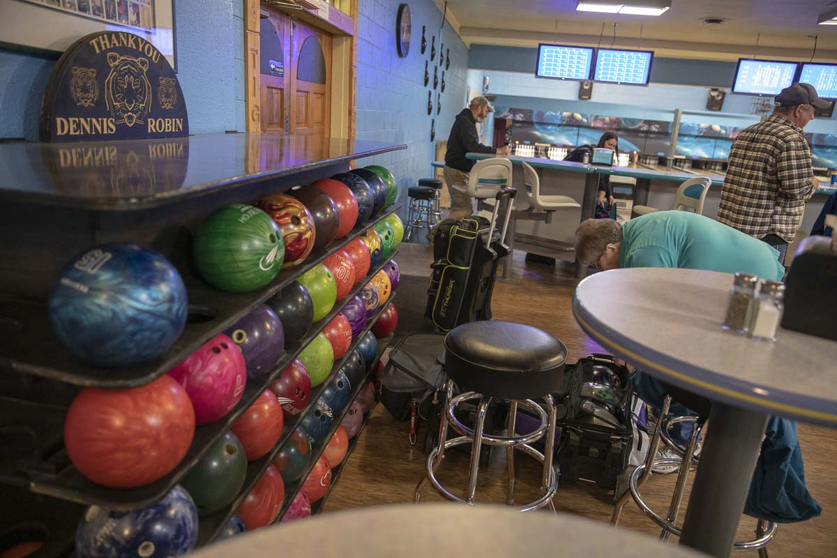 Within Tiger Bowl, a full pro shop is available to have bowling balls fixed and refurbished, along with other bowling gear maintenance. Photo by Jacob Granneman