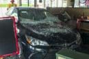 Car plows into Bortolami's Pizzeria in Hazel Dell
