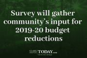 Survey will gather community's input for 2019-20 budget reductions