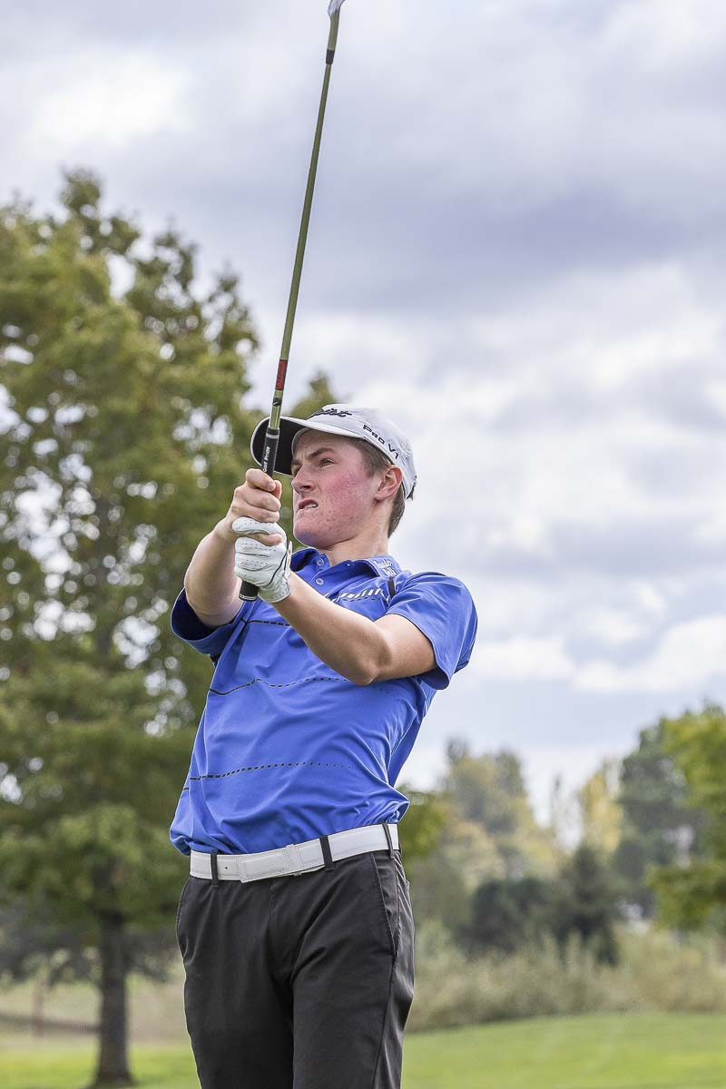 Graham Moody of Mountain View is the defending champion at the Class 3A boys state golf tournament. Photo by Mike Schultz