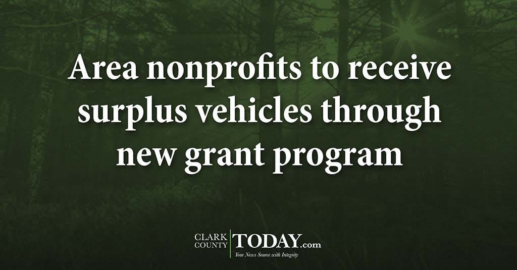 Area nonprofits to receive surplus vehicles through new