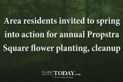 Area residents invited to spring into action for annual Propstra Square flower planting, cleanup