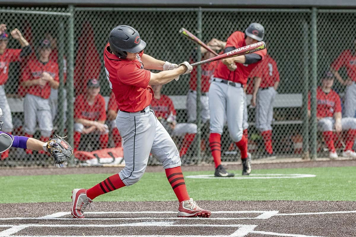 Grant Heiser, a senior from Camas, said he is proud of his teammates for winning the 4A GSHL and bi-district titles this season. Camas' year came to an end in a 5-1 loss to Issaquah. Photo by Mike Schultz