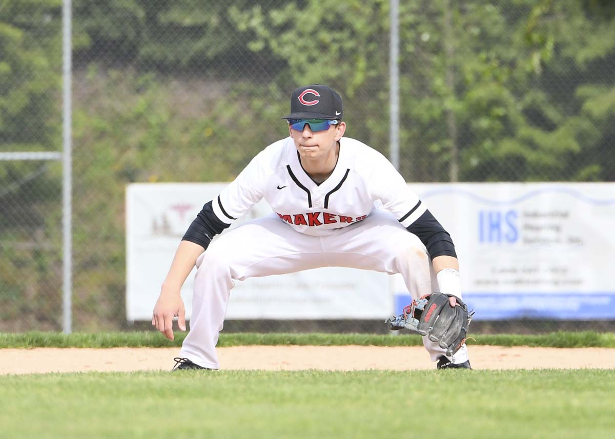 Quinten Sawyer is a rock on defense and also gives Camas its best at-bats, according to coach Stephen Short. Photo by Kris Cavin