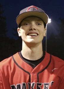 Riley Sinclair struck out six batters in a 3-1 win over Auburn Mountainview on Tuesday, helping Camas qualify for the Class 4A state baseball tournament. Photo by Paul Valencia