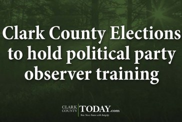 Clark County Elections to hold political party observer training
