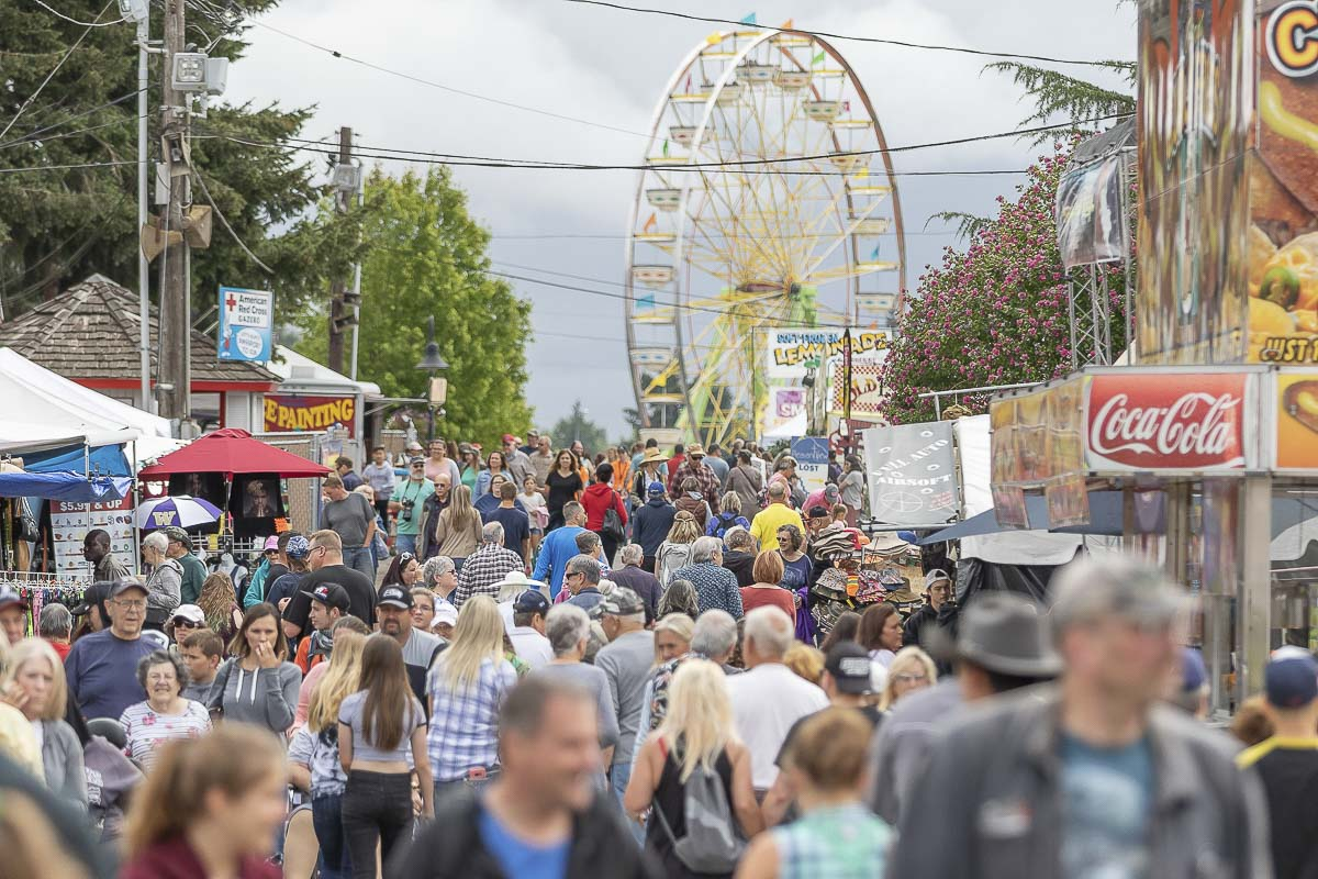 Crowds enjoy the 2018 edition of the Clark County Fair. Photo by Mike Schultz