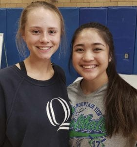 Serena Fogg, left, and Jocelyn Ocampo said their goal this year was to make sure every player on the team felt they belonged, on and off the field. Photo by