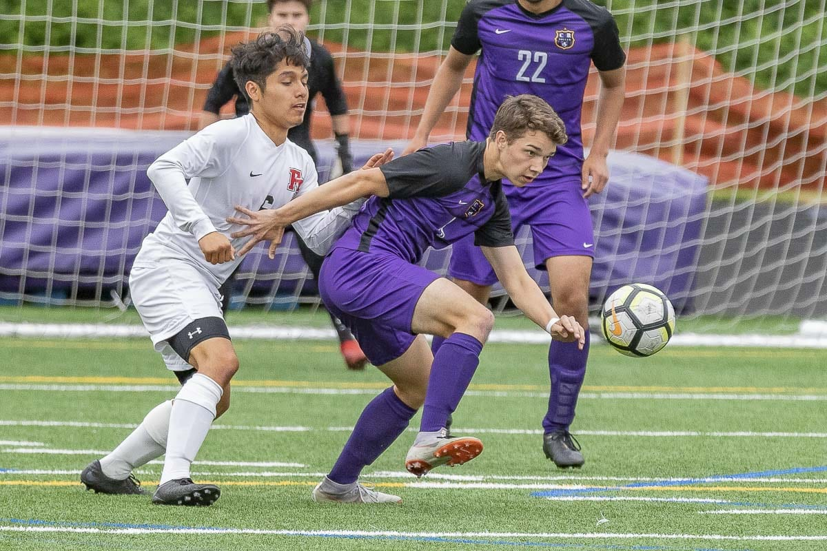 Columbia River's Jackson Kleier and the rest of the Chieftains have their eye on another state championship this week. Photo by Mike Schultz