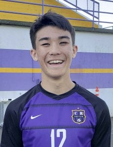 "Alex Ashmore is ""Mr. Dependable"" for the Columbia River boys soccer team, according to coach Filly Afenegus. Photo by Paul Valencia"