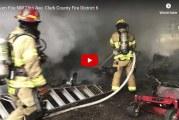 Crews battle morning blaze near Clark County Fairgrounds