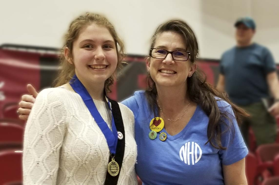 Ellie Durgarian with teacher Beth Doughty. Photo courtesy Battle Ground School District