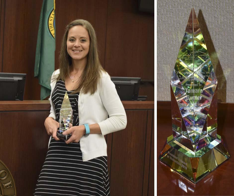 Battle Ground Deputy City Clerk Tamara Gunter is a recent recipient of the WMCA President's Award of Distinction. Photo courtesy of city of Battle Ground