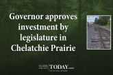 Governor approves investment by legislature in Chelatchie Prairie Railroad freight operations