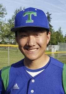 Aaron Hsu got a sacrifice fly and also pitched the final innings of Mountain View's bi-district win that clinched a spot to the state tournament. Photo by Paul Valencia